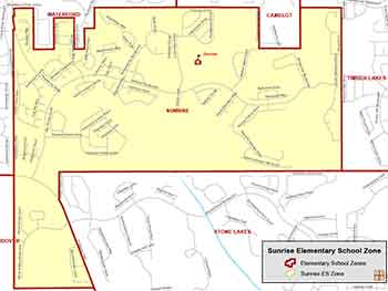 OCPS Sunrise Elementary Map