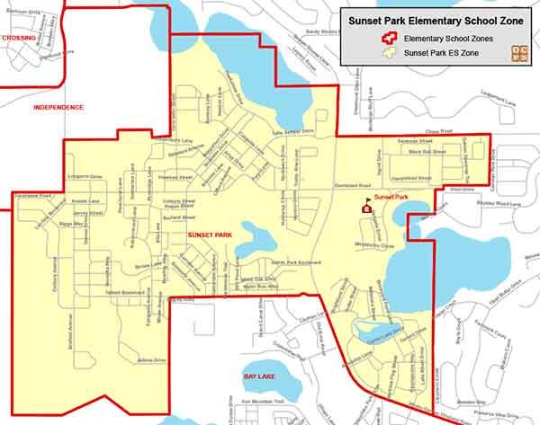 OCPS Sunset Park Elementary Map