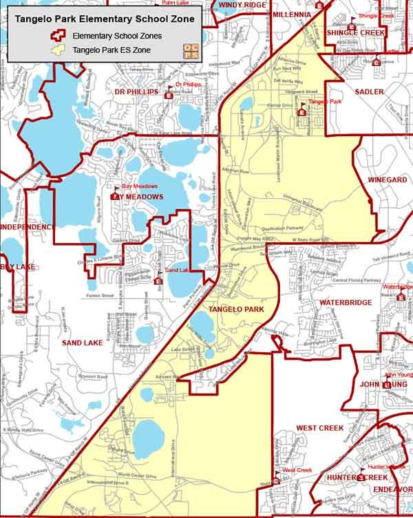 OCPS Tangelo Park Elementary Map