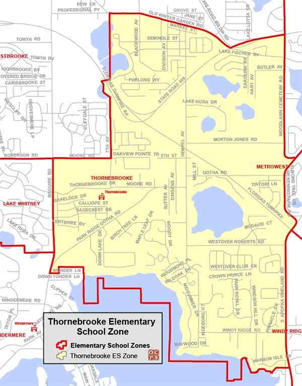 OCPS Thornebrooke Elementary Map