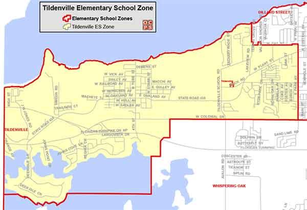OCPS Tildenville Elementary Map