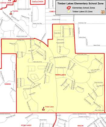 OCPS Timber Lakes Elementary Map