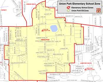 OCPS Union Park Elementary Map