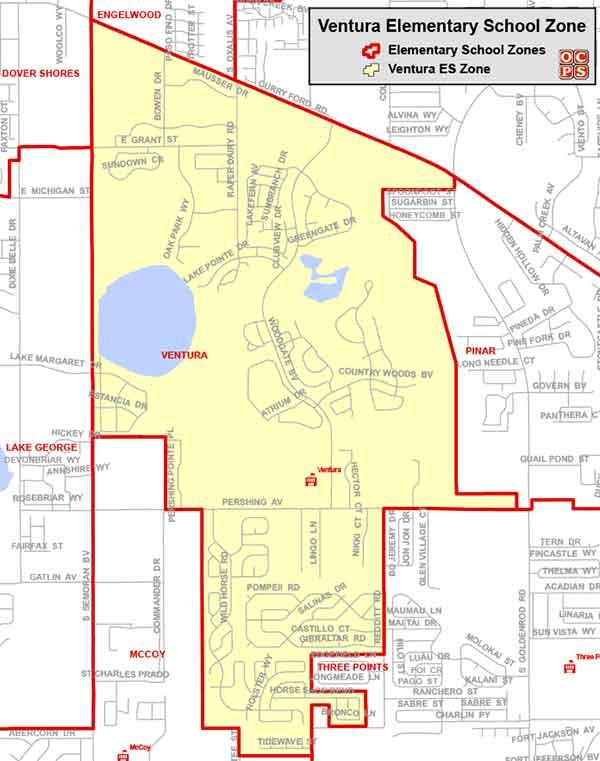 OCPS Ventura Elementary Map