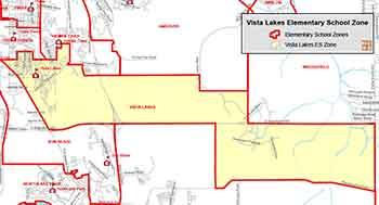 OCPS Vista Lakes Elementary Map