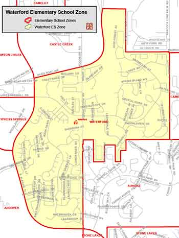 OCPS Waterford Elementary Map