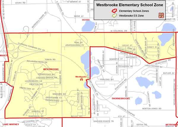 OCPS Westbrooke Elementary Map