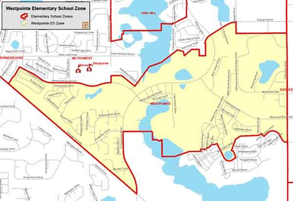 OCPS Westpointe Elementary Map