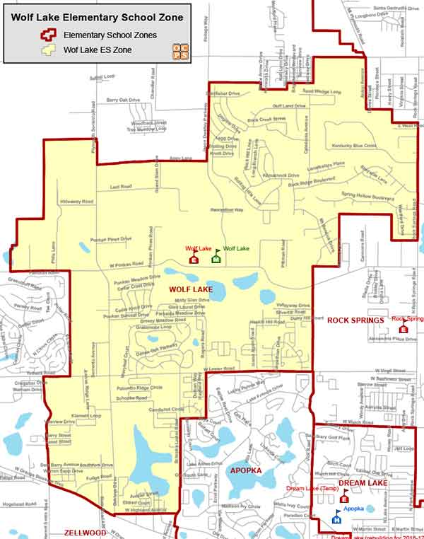 OCPS Wolf Lake Elementary Map