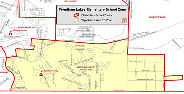 OCPS Wyndham Lakes Elementary Map