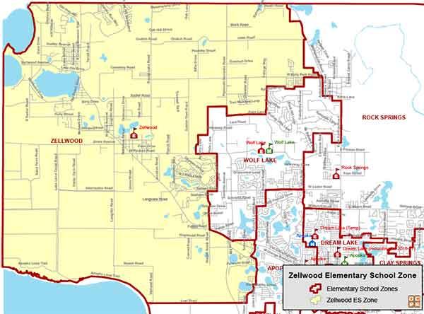 OCPS Zellwood Elementary Map