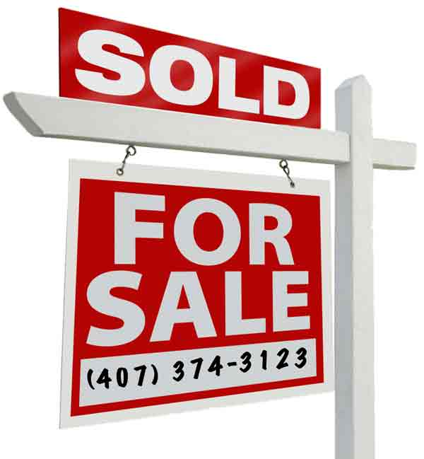 Orlando Sold House Sign for REMAX DOWNTOWN