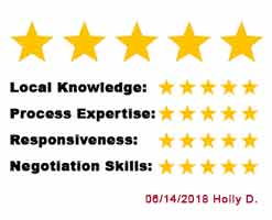 5 star review from Holly D