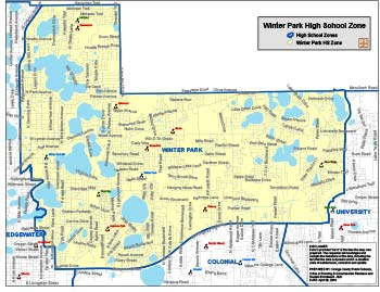 OCPS Winter Park Hifh Map