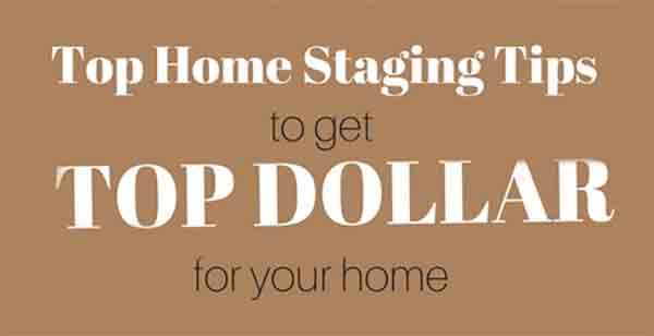placer card with verbiage on top home staging tips