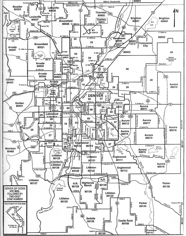 Denver Zip Code Map