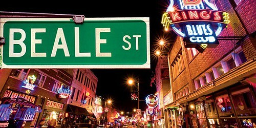 Beale Street and other attactions are convenient to real estate in Memphis, TN