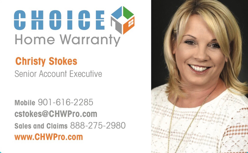 Christy Stokes Choice Home Warranty