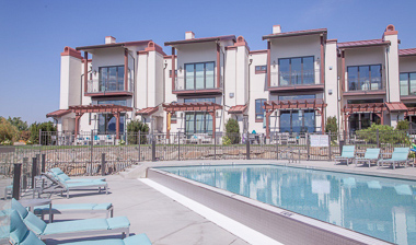 View of the pool and the condos