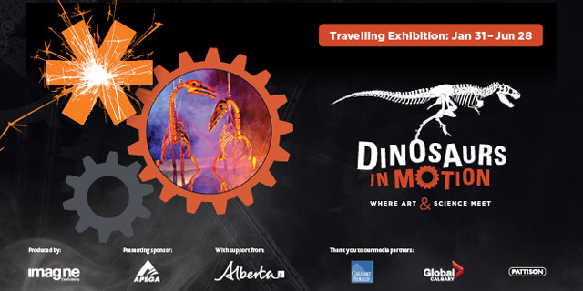 Dinosaurs In Motion Travelling Exhibition Telus Spark