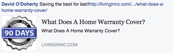 Home Warranty Program