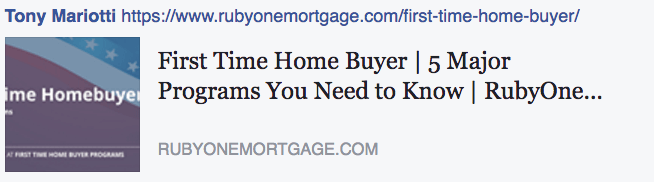 Mortgage Programs for First Time Home Buyers