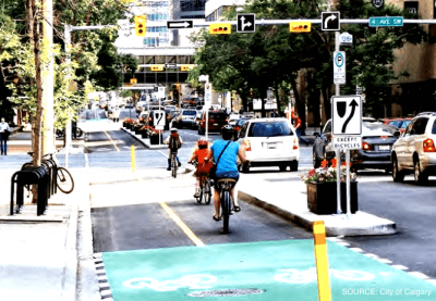 Cycle Tracks in Calgary