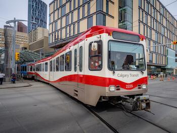 C-train in Calgary, AB