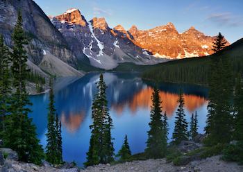 Morraine Lake in Banff National Park