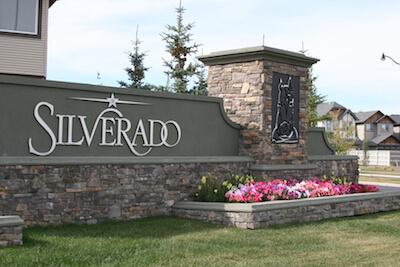 Silverado community in Calgary