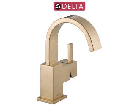 Delta champagne bronze bath faucet