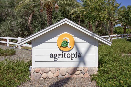 The Main Entrance to Agritopia in Gilbert, Arizona