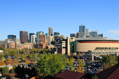 Denver Colorado Pepsi Center Overlooking LoDo