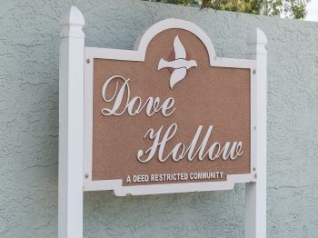 dove hollow sub sign