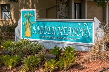 hidden meadows entrance sign