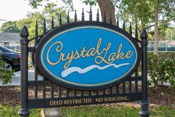 Crystal Lake Sub Sign