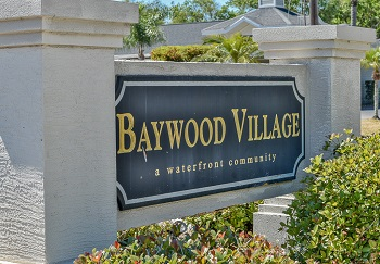 Baywood Village Sign