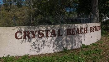 crystal beach estates sign