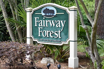 fairway forest sign