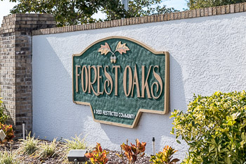forest oaks sign