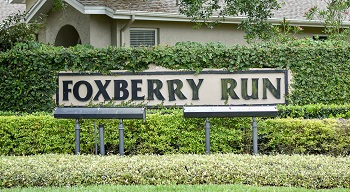 foxberry run sign