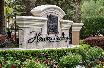 hawks landing sign