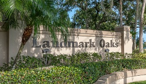 sign for landmark oaks