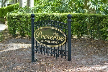 The Preserve Lansbrook sign