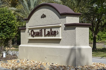 Quail Lake sign