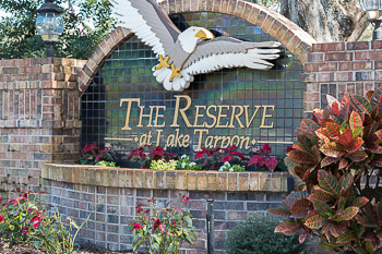 the reserve at lake tarpon sign