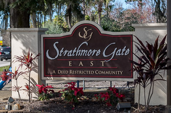 strathmore gate east sign