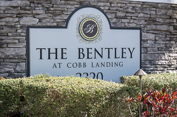 the bentley at cobbs landing sign
