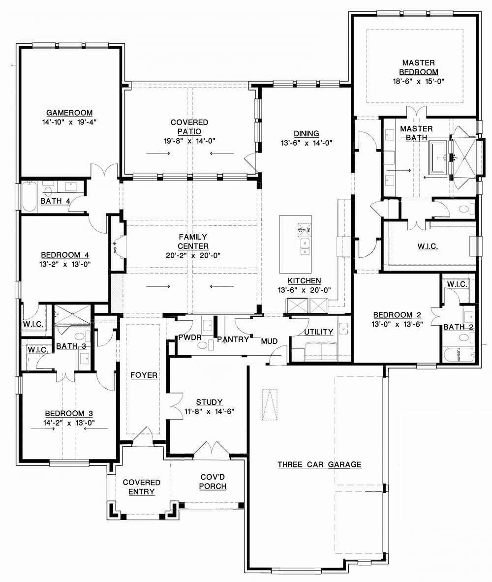 Southgate Homes the fredericksburg model floorplan