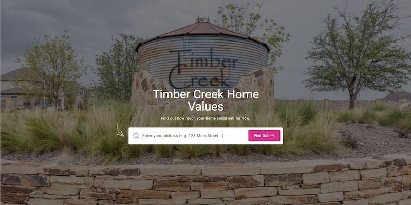 Check your Timber Creek Home Price